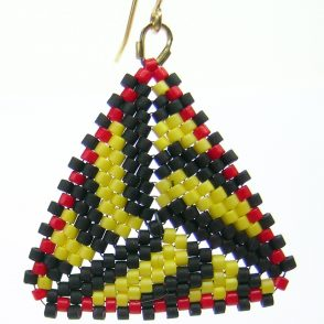 Black & Yellow Gourd Earrings